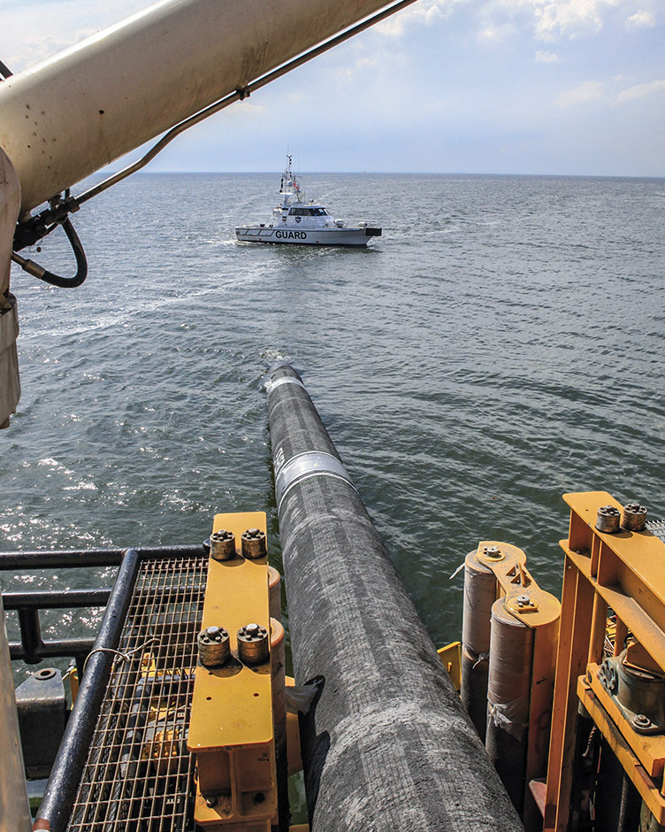 Nord Stream Pipeline under Construction